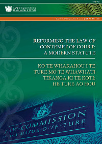 R140 Reforming the Law of Contempt of Court: A Modern Statute - Cover